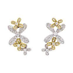 18KT White Gold 0.80 ctw Diamond Earrings