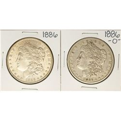 Lot of 1886 & 1886-O $1 Morgan Silver Dollar Coins