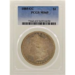 1885-CC $1 Morgan Silver Dollar Coin PCGS MS65