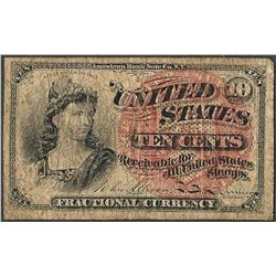 March 3, 1862 Fourth Issue 10 Cent Fractional Currency Note