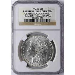 1884-O $1 Morgan Silver Dollar Coin NGC Brilliant Uncirculated