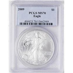 2009 $1 American Silver Eagle Coin PCGS MS70