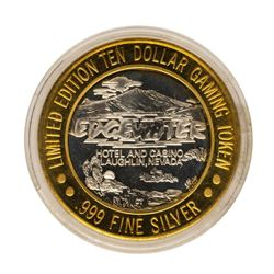 .999 Fine Silver Edgewater Laughlin, Nevada $10 Limited Edition Gaming Token