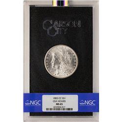 1883-CC $1 Morgan Silver Dollar Coin GSA Hoard NGC MS65