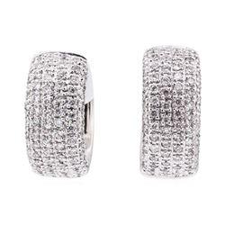 14KT White Gold 0.75 ctw Diamond Earrings