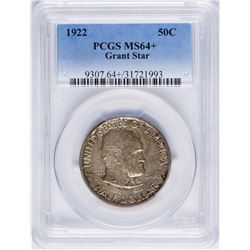 1922 Grant with Star Commemorative Half Dollar Coin PCGS MS64+