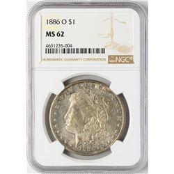 1886-O $1 Morgan Silver Dollar Coin NGC MS62
