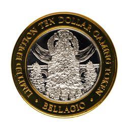 .999 Fine Silver Bellagio Las Vegas, Nevada $10 Limited Edition Gaming Token