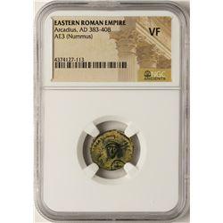 Arcadius, 383-408 AD Ancient Eastern Roman Empire Coin NGC VF