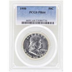 1950 Franklin Half Dollar Proof Coin PCGS PR64