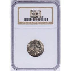 1926 Buffalo Nickel Coin NGC MS65