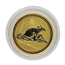 1996 $15 Australia Lunar Year of the Rat 1/10 oz. Gold Coin
