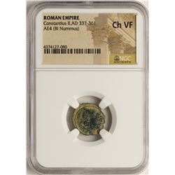 Constantius II, 337-361 AD Ancient Roman Empire Coin NGC Ch VF