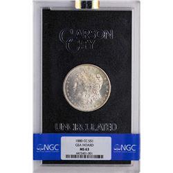 1880-CC $1 Morgan Silver Dollar Coin GSA Hoard NGC MS63