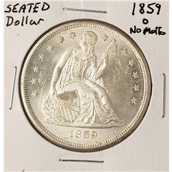 1859-O $1 No Motto Seated Liberty Silver Dollar Coin