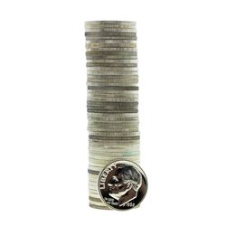 Roll of (50) 1962 Proof Roosevelt Dime Coins