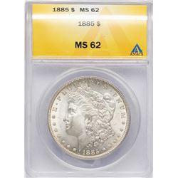 1885 $1 Morgan Silver Dollar Coin ANACS MS62