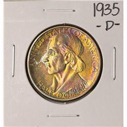 1935-D Boone Commemorative Half Dollar Coin Amazing Toning