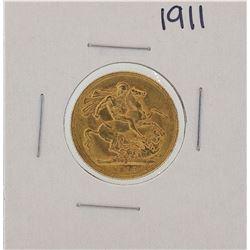 1911 Melbourne Australia Sovereign Gold Coin