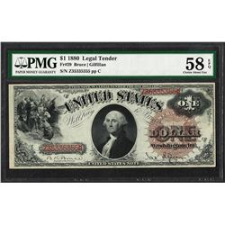 1880 $1 Legal Tender Note Fr.29 PMG Choice About Uncirculated 58EPQ