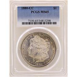 1880-CC $1 Morgan Silver Dollar Coin PCGS MS65