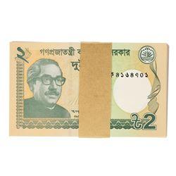 Pack of (100) Uncirculated 2016 Bangladesh 2 Taka Bank Notes