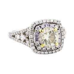 18KT White and Yellow Gold 2.51 ctw Diamond Ring