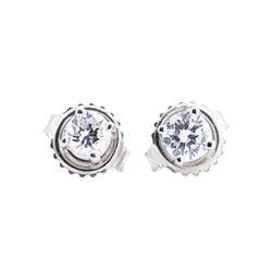 14KT White Gold 0.45 ctw Diamond Earrings