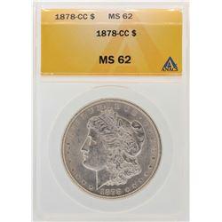 1878-CC $1 Morgan Silver Dollar Coin ANACS MS62