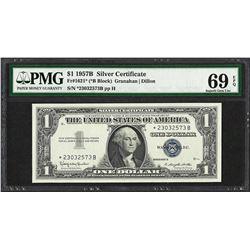 1957B $1 Silver Certificate STAR Note Fr.1621* PMG Superb Gem Uncirculated 69PPQ