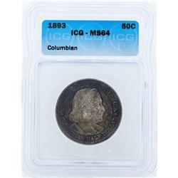 1892 Columbian Centennial Commemorative Half Dollar Coin ICG MS64