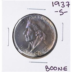 1937-S Boone Bicentennial Commemorative Half Dollar Coin Amazing Toning
