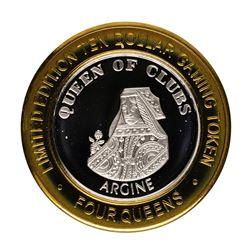 .999 Fine Silver Four Queens Casino Las Vegas $10 Limited Edition Gaming Token