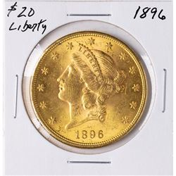 1896 $20 Liberty Head Double Eagle Gold Coin