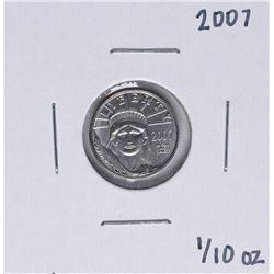 2007 Platinum American Eagle 1/10 oz. Platinum Coin