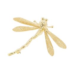 18KT Yellow Gold Dragonfly Pin