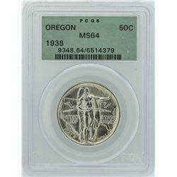 1936-S Oregon Trail Memorial Commemorative Half Dollar Coin PCGS MS64