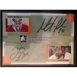 2005-06 In The Game Dual Autographs Martin Brodeur, and