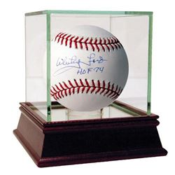 "Whitey Ford Signed Baseball Inscribed ""HOF 74"" with High Quality Display Case (Steiner COA  MLB Holo"