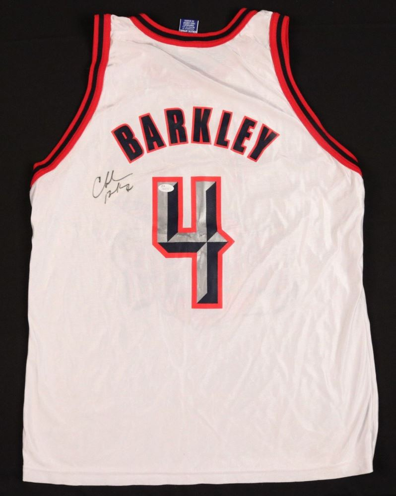 sneakers for cheap 32933 44268 Charles Barkley Signed Houston Rockets Champion Jersey ...