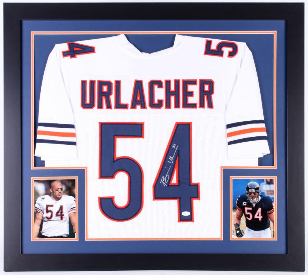 huge selection of 33314 c4e64 Brian Urlacher Signed Chicago Bears 31x35 Custom Framed ...