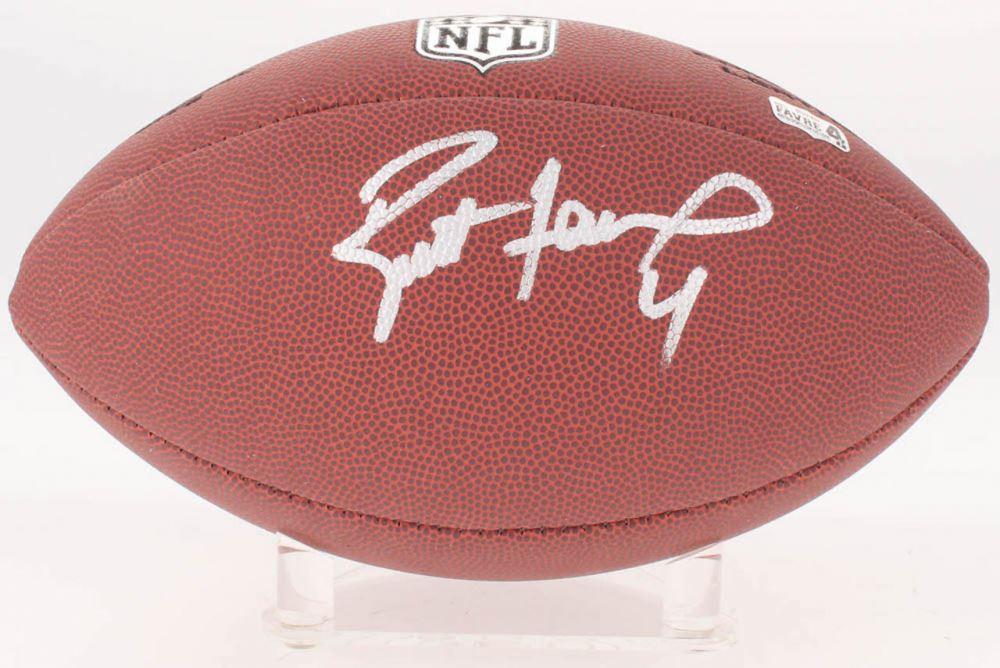 huge discount 7943a 4d088 Brett Favre Signed NFL Football (Schwartz COA Radtke ...
