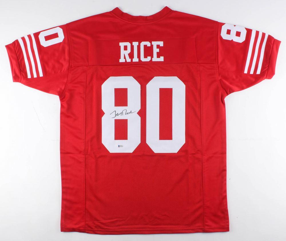 detailed look e48ef 22709 Jerry Rice Signed San Francisco 49ers Jersey (Beckett COA)