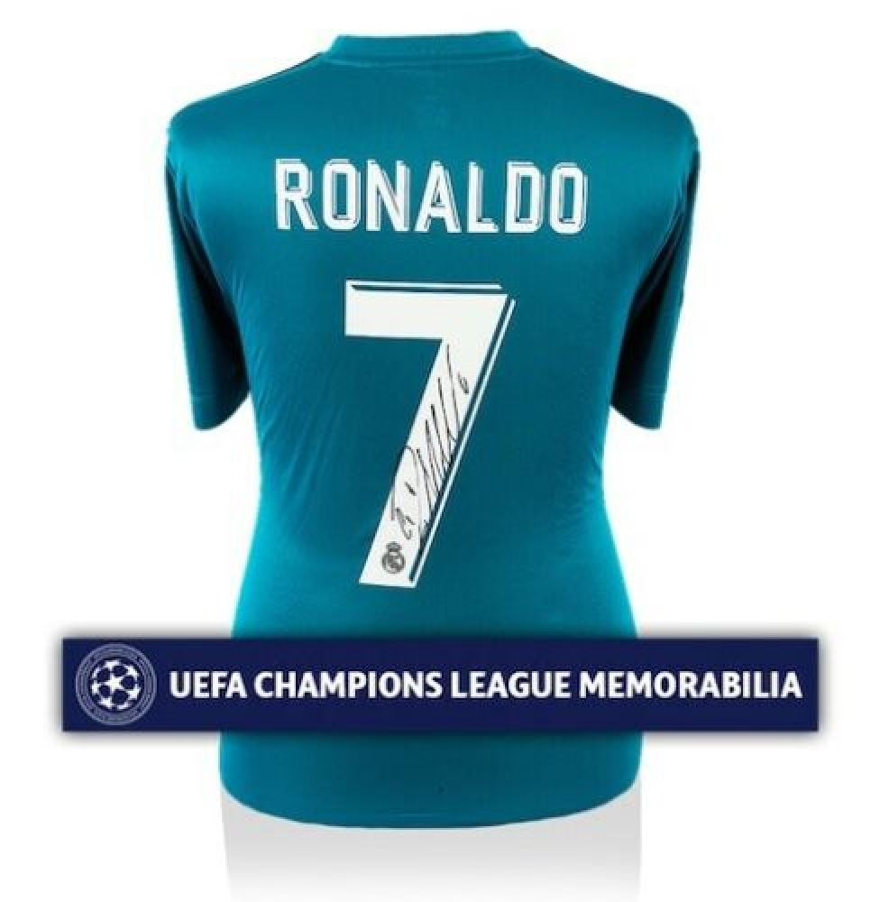 finest selection 6a4ba 45c63 Cristiano Ronaldo Signed 2017-18 Real Madrid Authentic ...