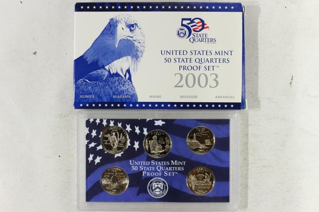 2003 US Mint State Quarter Proof Set