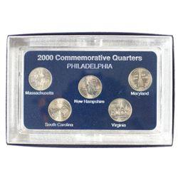 SET OF ALL 5-2000-P STATE QUARTERS BRILLIANT UNC