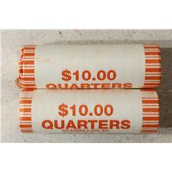 2-$10 ROLLS OF 2010-P & D HOT SPRINGS N.P.