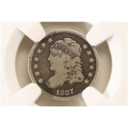 1837 CAPPED BUST HALF DIME NGC GOOD DETAILS