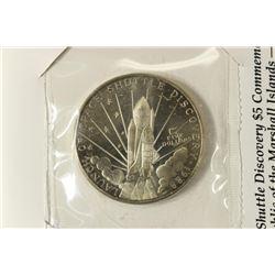 1988 MARSHALL ISLANDS $5 BRILLIANT UNC COIN