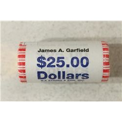 $25 ROLL OF 2011 JAMES  A. GARFIELD PRESIDENTIAL